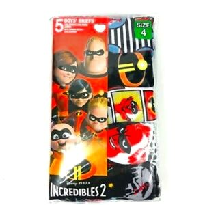5 DISNEY Pixar Incredibles 2 Boys Briefs NWT